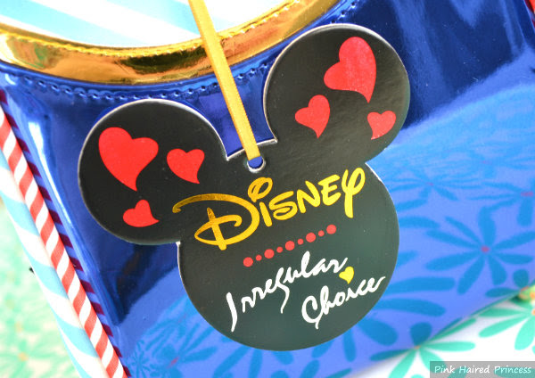 disney and irregular choice branded bag tag