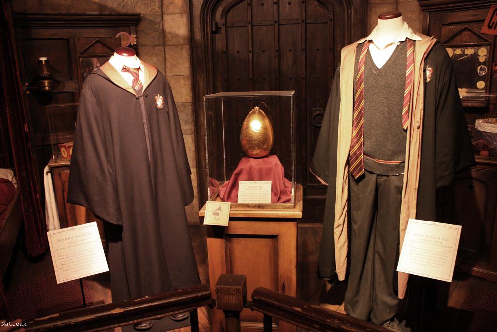 costume scolaire d'Harry et de Ron et l'oeuf d'or