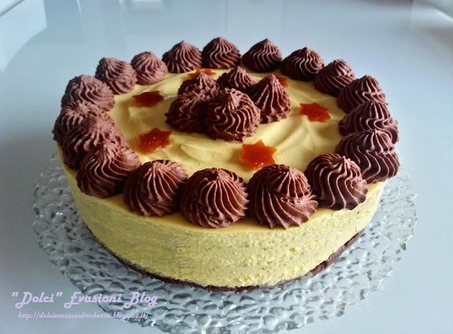 Torta Zabaione Chantilly, Namelaka al Fondente e profumo d'Arancia