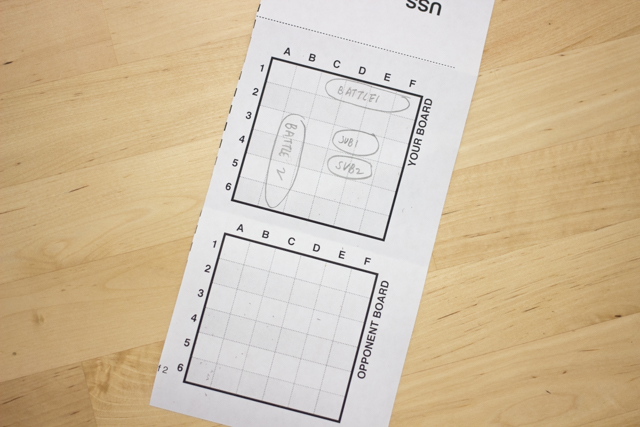 Free Printable Paper Battleship Game to Play with the kids