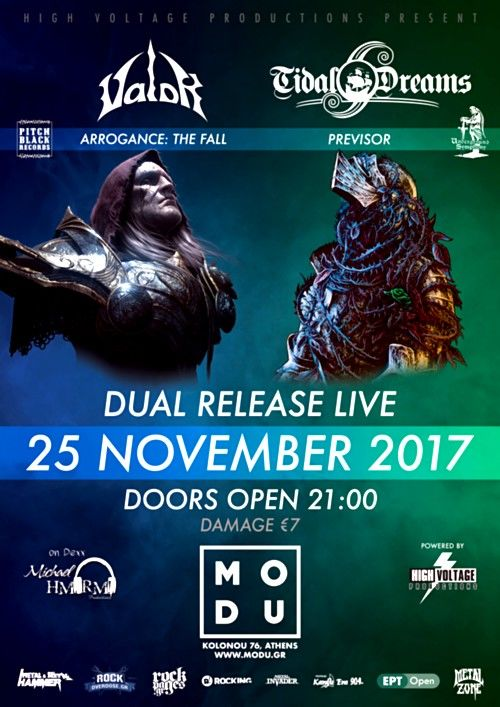 TIDAL DREAMS, VALOR: Σάββατο 25 Νοεμβρίου @ MODU