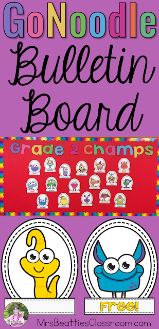 Do your students love GoNoodle as much as mine? Welcome them back to school and get them excited for this year's brain breaks with this FREE GoNoodle bulletin board printable! This completely editable file includes all 25 GoNoodle Champs and the lettering you'll need for the welcome header.