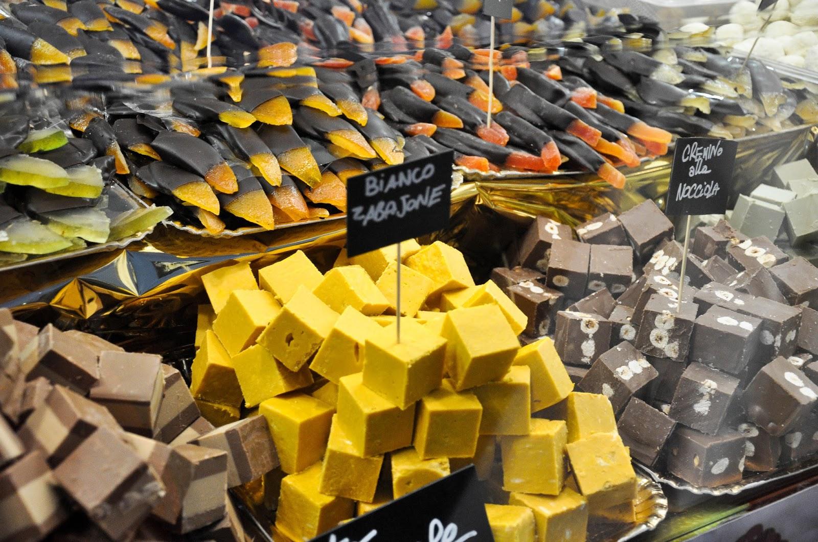 Cremino cubes, Chocolate Festival, Piazza dei Signori, Vicenza, Veneto, Italy
