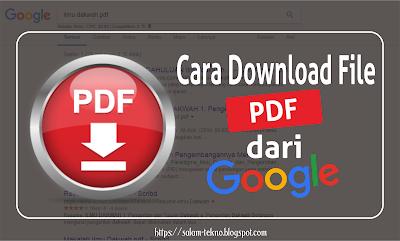 cara download pdf dari google
