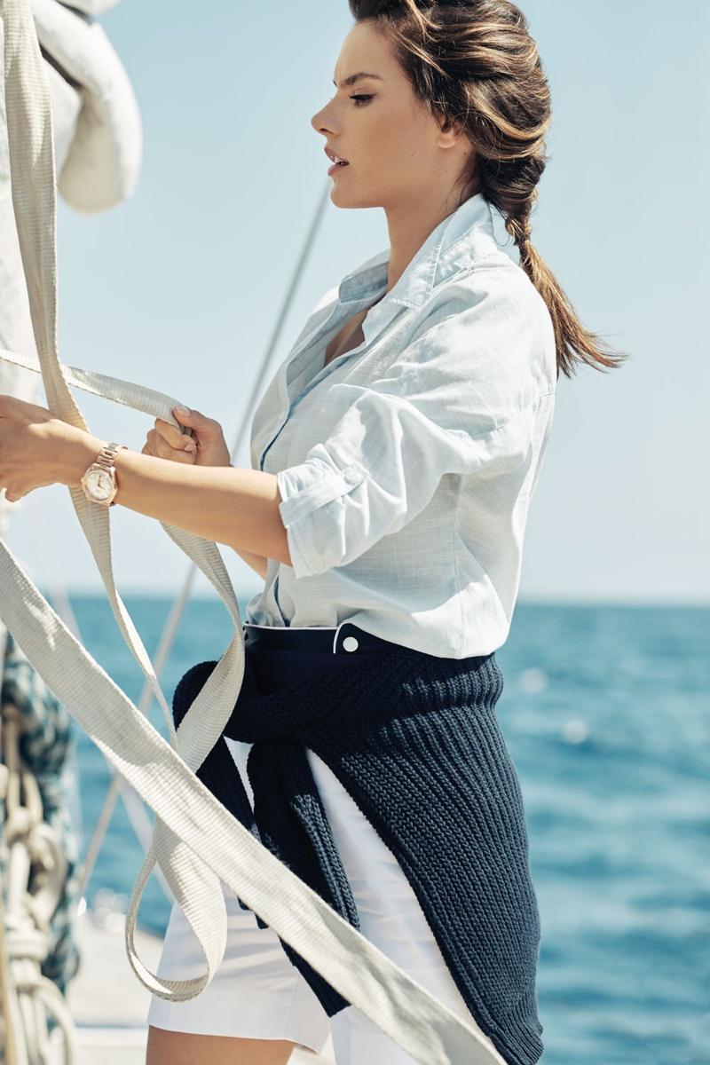 Alessandra Ambrosio for OMEGA Aqua Terra 2017 Campaign