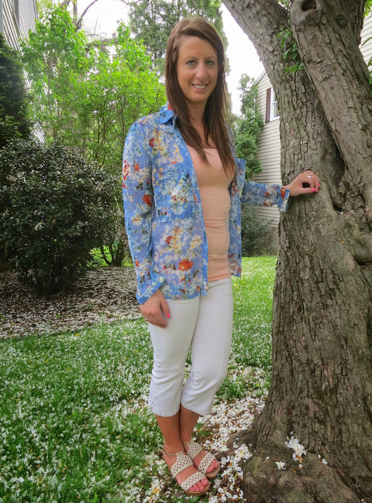 floral, spring, fashion, outfit