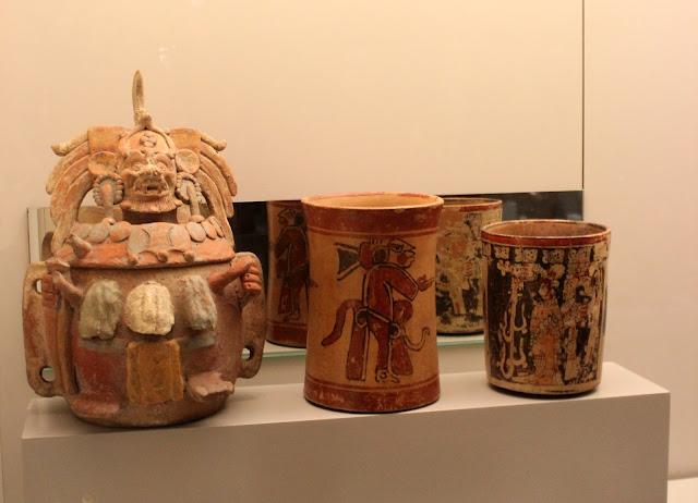 Cerámicas tierras mayas, museo de América en Madrid