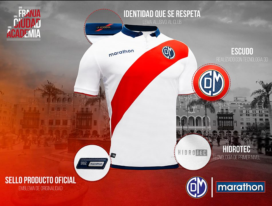 152d4e8bb0 Marathon divulga as novas camisas do Deportivo Municipal - Show de Camisas