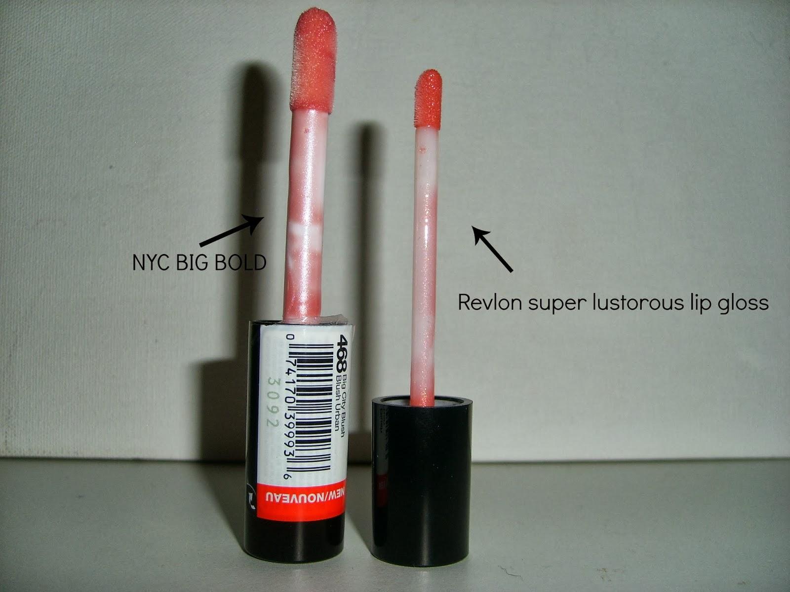 NYC plumping lip gloss wand comparison