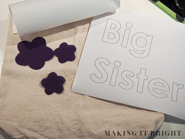 Making It Bright: DIY: Big Sister Bag