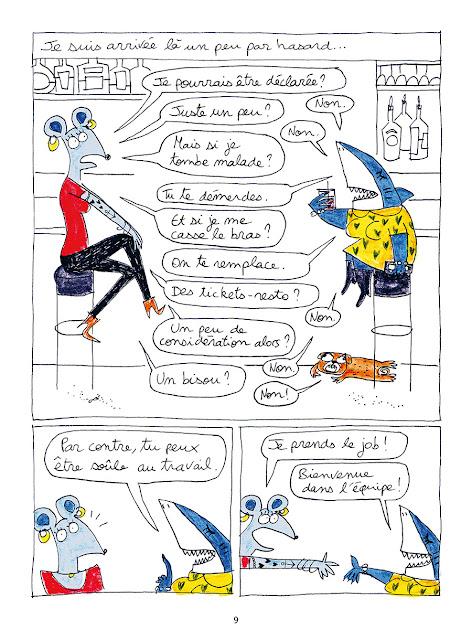 page de Les Noctambules de Pauline Perrolet chez Delcourt