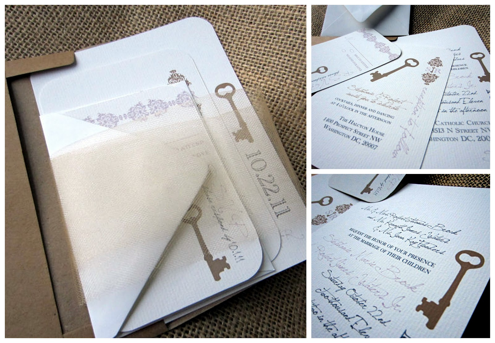 Garden Wedding Invitations: Lovely Secret Garden Vintage Key Themed Stationery