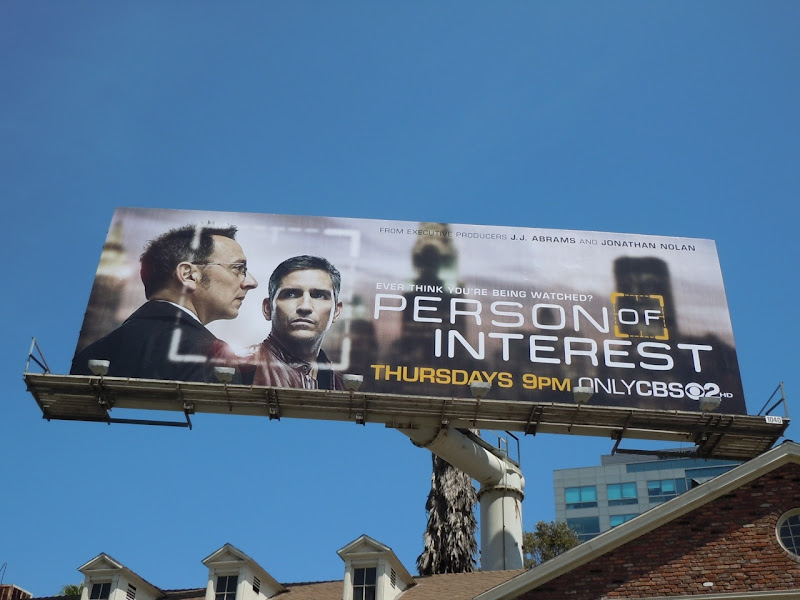 Person of Interest TV billboard