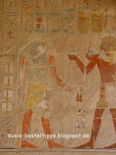 ägyptische Wandmalerei: Foto von Susanne McDonald, unabhängige Stampin' Up! Demonstratorin