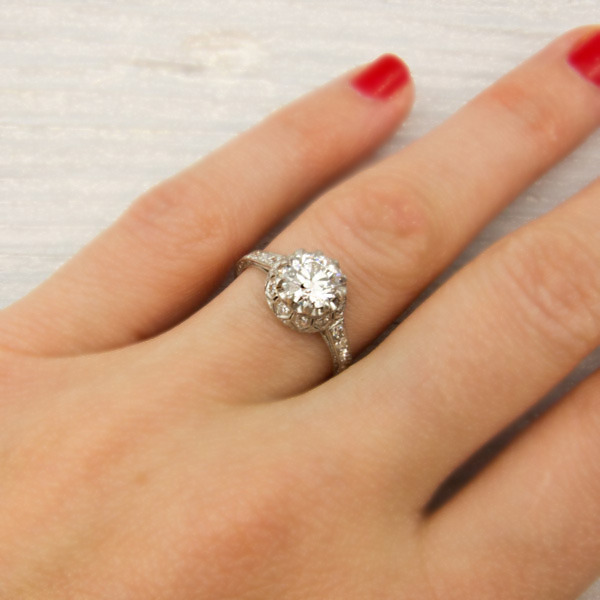 Erstwhile Jewelry Antique Engagement Ring 6242 - {Frosted Find}  Erstwhile Jewelry