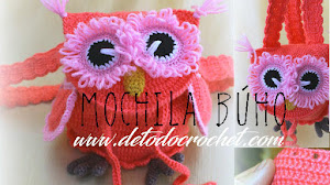 Mochila Búho al Crochet / Paso a paso