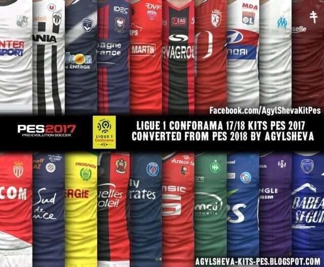 Ligue 1 Conforama Kits PES 2017