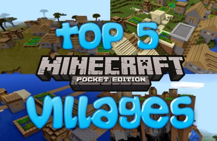 Top 5 VILLAGE SEEDS for Minecraft Pocket Edition