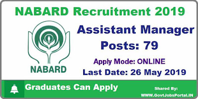 NABARD Assistant Manager Recruitment 2019