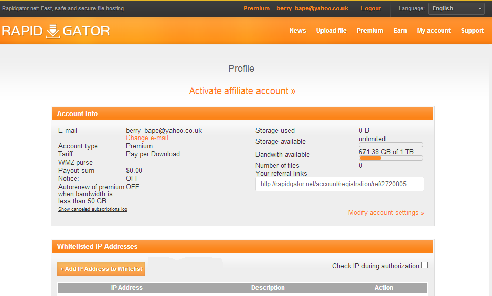 Rapidgator net free premium account 8th december 2015 free premium