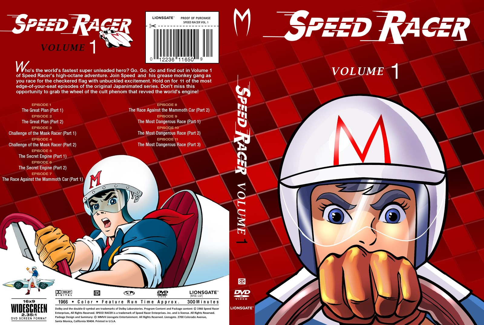 Cap DVD Speed Racer Volume 1 a 5