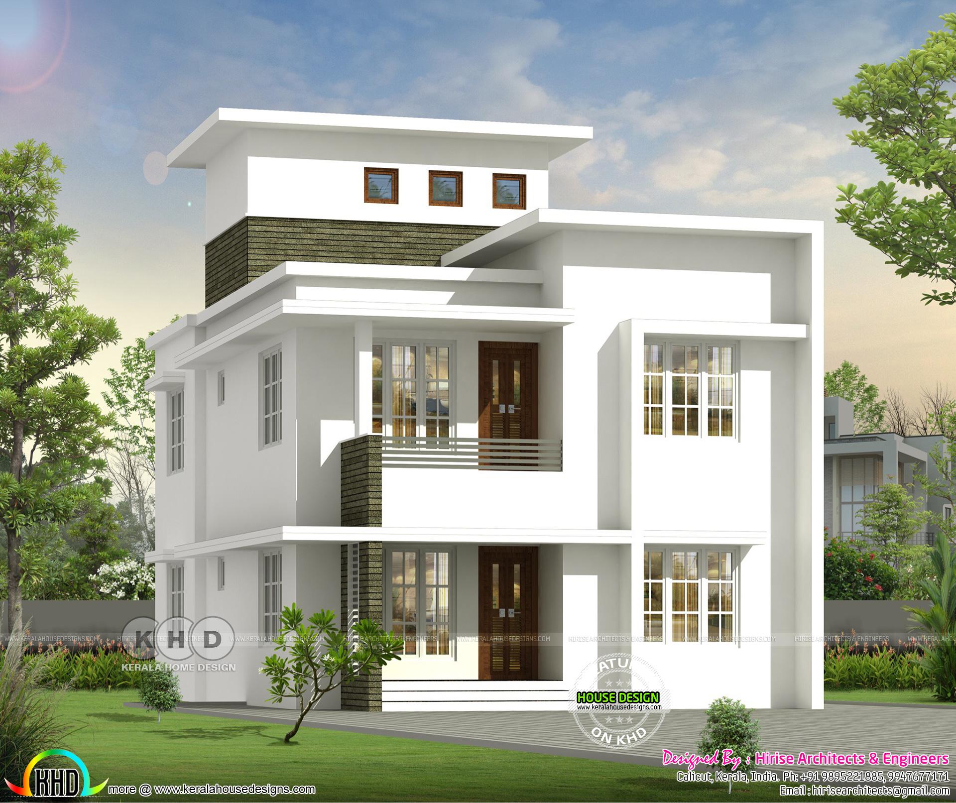 1700 Square Feet Villa Style Small Home Design