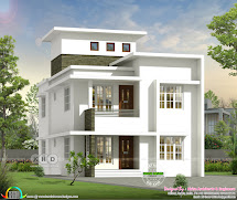 1700 Square Feet Villa Style Small Home Design - Kerala