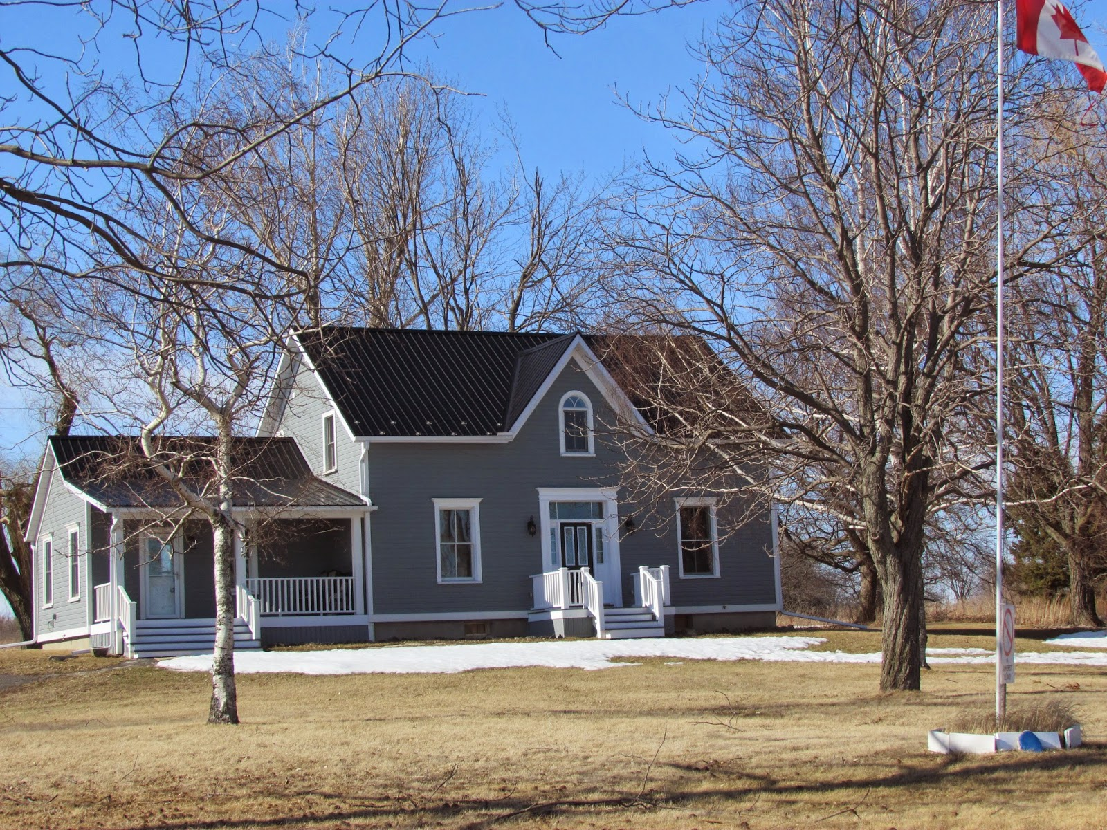 Three Ontario Farmhouses On The South Shore