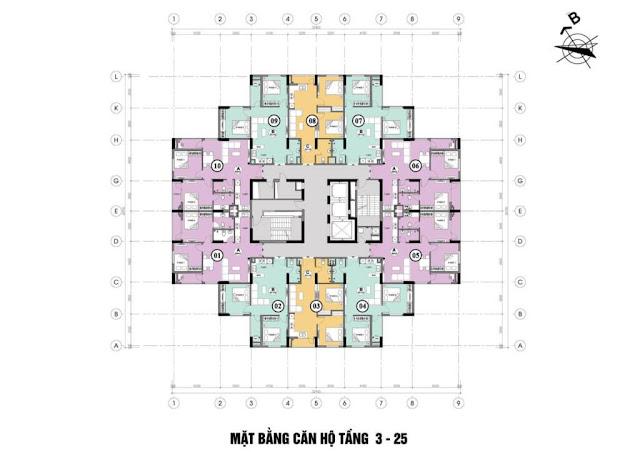 Mặt bằng điển hình block A dự án Mipec City View