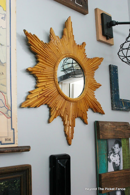 make a mirror from a vintage mid century clock