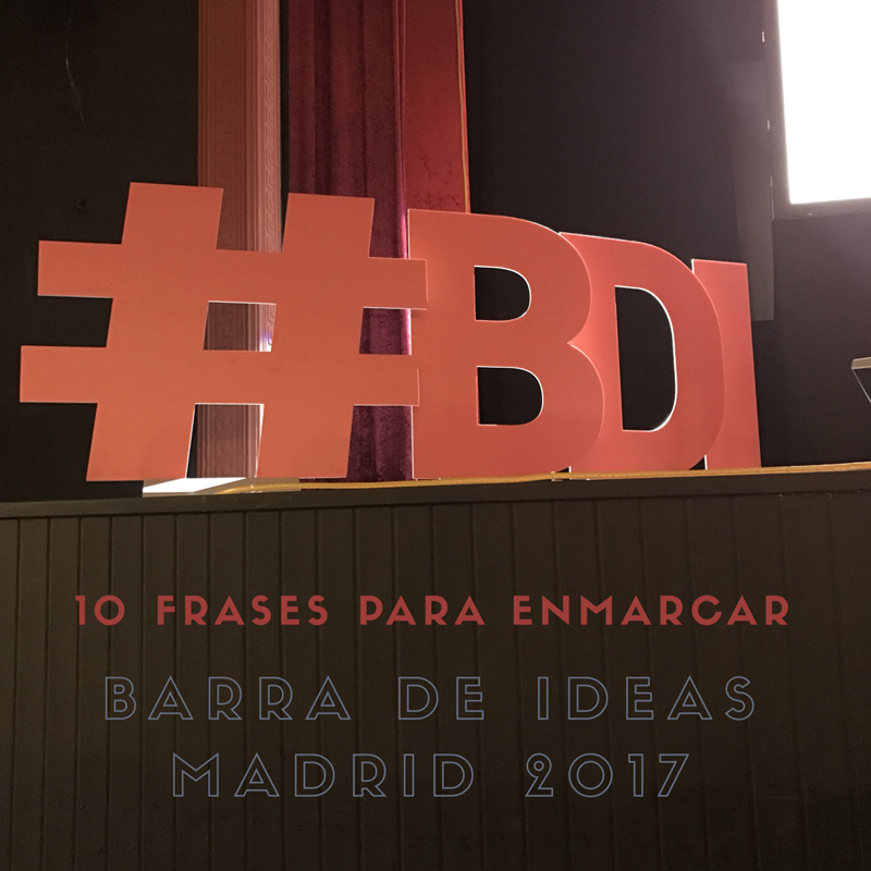 Barra de Ideas Madrid 2017