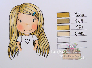 Heather Huggins - The Paper Nest Dolls - Copic Hair Color