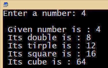 Multiplication operator C cube square double tirple