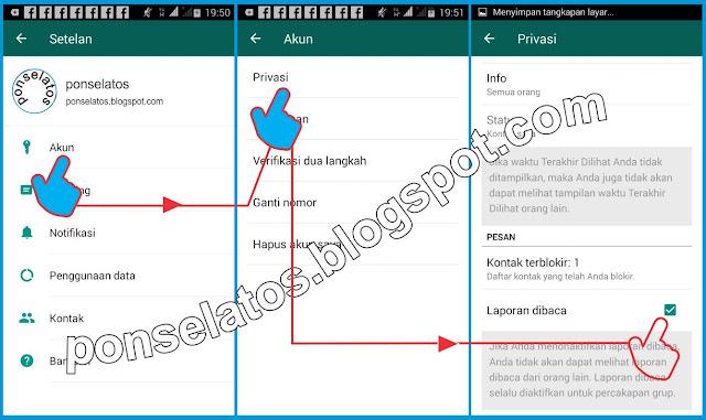 Menghilangkan Centang Biru di WhatsApp