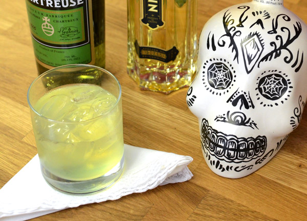 chartreuse, cocktail, tequila, lovecraft, st. germain, kah