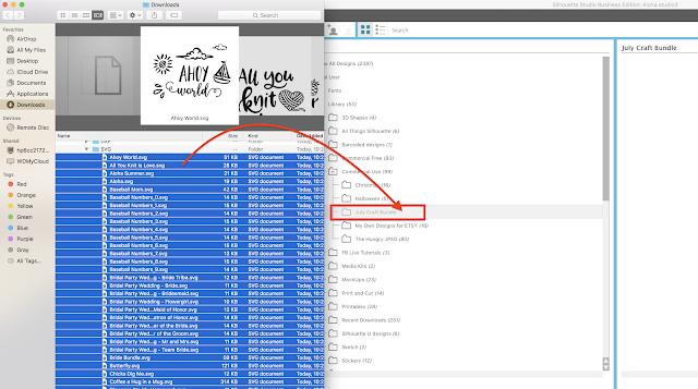 importing craft bundles designs Silhouette Studio, zip files, how to import, silhouette studio v4