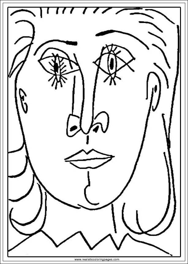 Arts Of Picasso Printable Coloring Pages Realistic