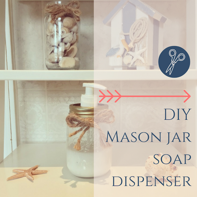 DIY Mason Jar Soap Dispenser tutorial from dovecottageblog.com