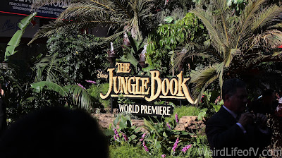 Jungle decor and signage for the Jungle Book red carpet