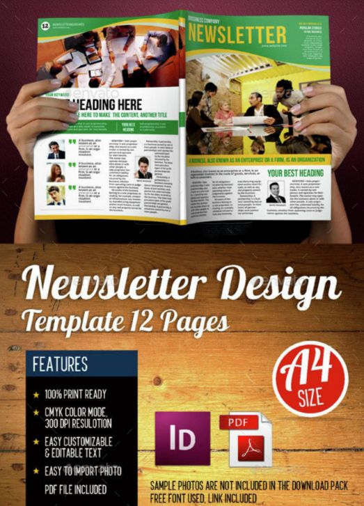 14. Newsletters Template 12 Pages Vol.4