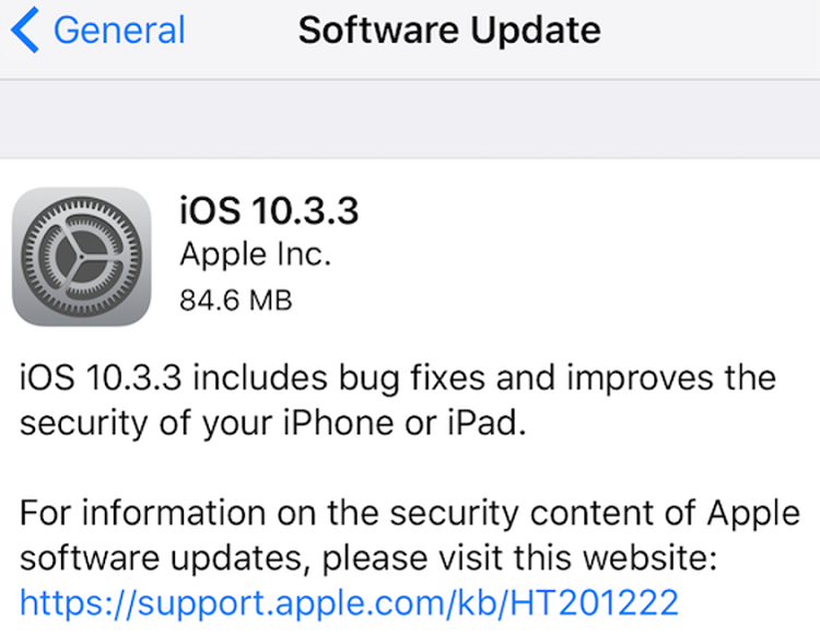 Apple-iOS-10.3.3-Changelog