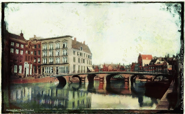 Ingekleurde foto Amsterdam, hotel Rondeel