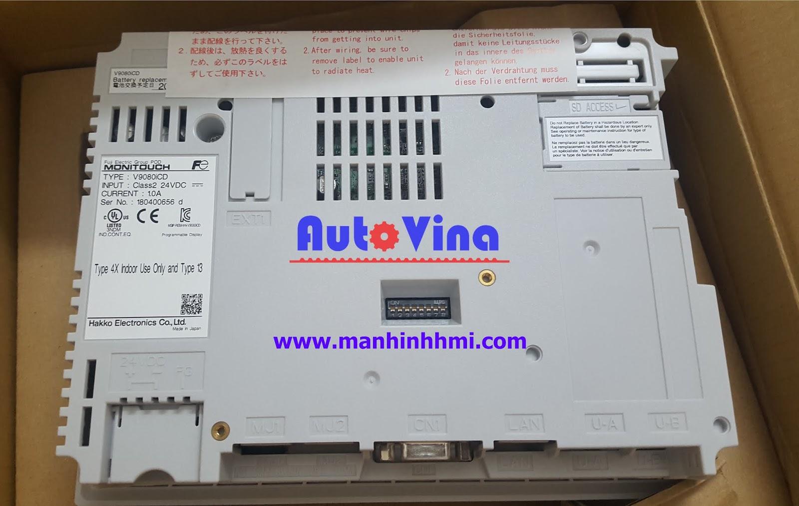 Công ty phân phối sản phẩm màn hình cảm ứng HMI Fuji Hakko V9080iCD