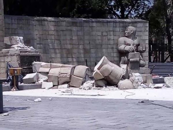 Colapso Monumento a la Madre tras sismo en la CDMX