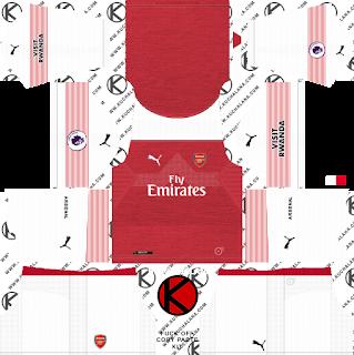 Arsenal 2018/19 Kit - Dream League Soccer Kits