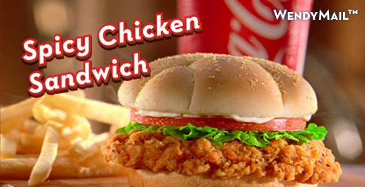 wendys spicy chicken canada
