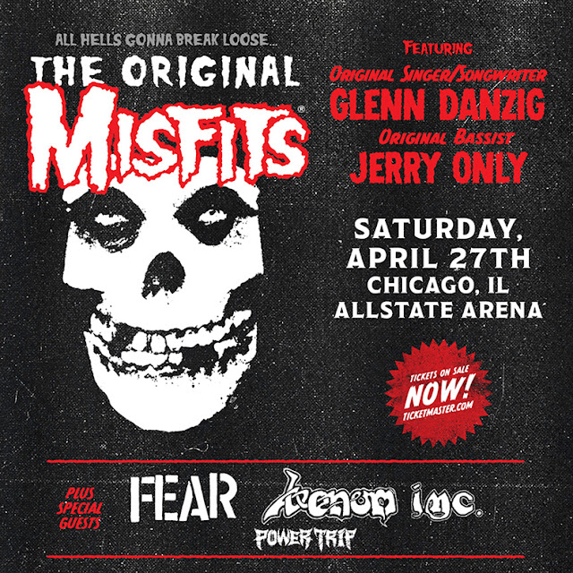 The Original Misfits Triumphantly Return to Chicago For One Night Only on Saturday April 27th, 2019 at Allstate Arena with The Original Misfits - Glenn Danzig and Jerry Only