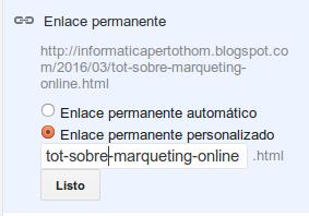 URL personalitzada