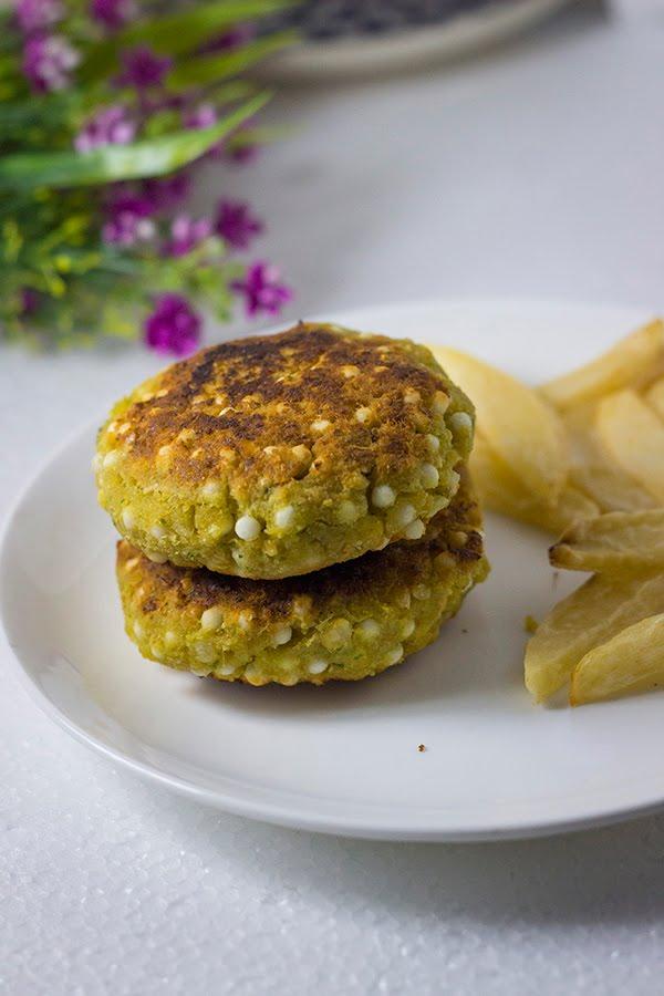 Sabudana Chana Vada Sago Chickpea patty burger garbanzo fritter wada pakoda bonda sabakki