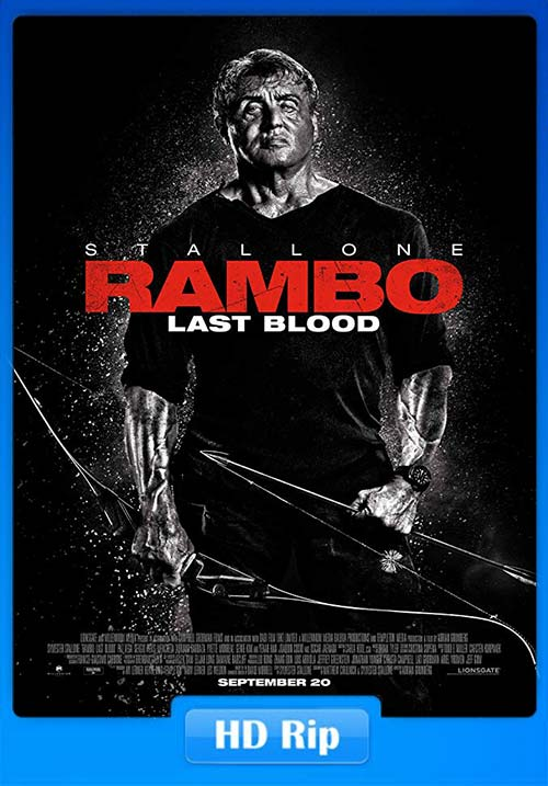 Rambo Last Blood 2019 Hindi 720p HC HDRip HQ Line Auds Telugu Tamil Eng | 480p 300MB | 100MB HEVC